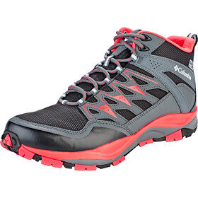 Columbia Wayfinder Mid Outdry Chaussures Femme, black/red coral